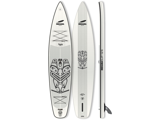 Indiana SUP 12'6 Touring Paddle Gonflable, white/grey